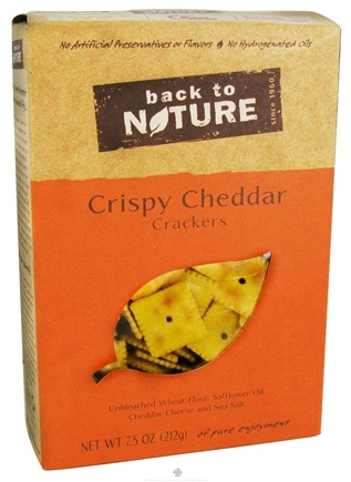 DROPPED: Back To Nature - Crackers Crispy Chedder - 7.5 oz.