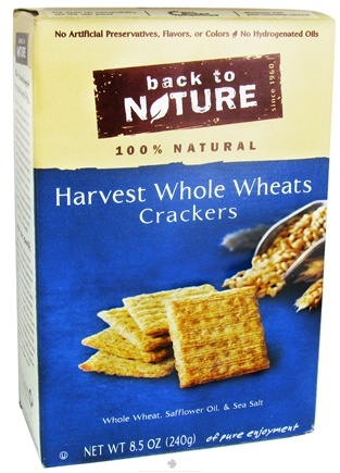 DROPPED: Back To Nature - Crackers Harvest Whole Wheats - 8.5 oz.