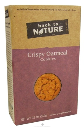 DROPPED: Back To Nature - Cookies Crispy Oatmeal - 9.5 oz.