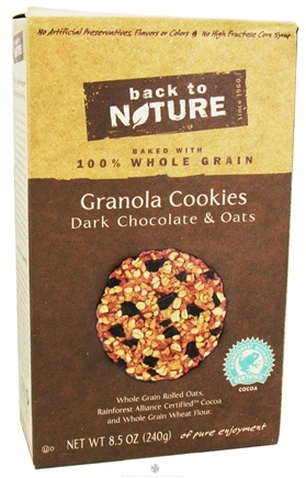 DROPPED: Back To Nature - Granola Cookies Dark Chocolate & Oats - 8.5 oz.