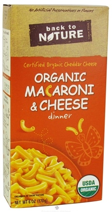 DROPPED: Back To Nature - Organic Dinner Macaroni & Cheese - 6 oz. CLEARANCE PRICED