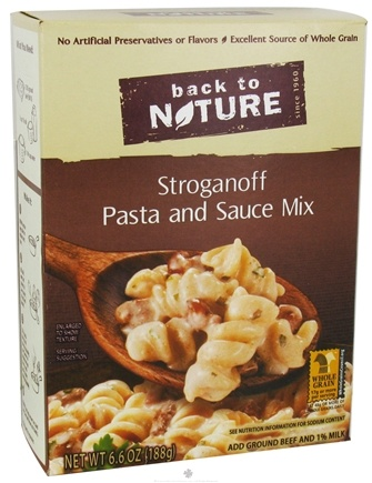 DROPPED: Back To Nature - Stroganoff Pasta and Sauce Mix - 6.6 oz. CLEARANCE PRICED