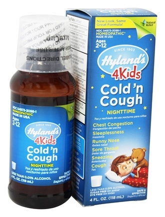 Hylands - Nighttime Cold 'N Cough 4 Kids - 4 oz.