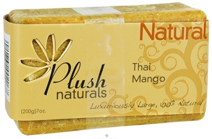 DROPPED: Plush Naturals - Bar Soap Thai Mango - 7 oz. CLEARANCE PRICED