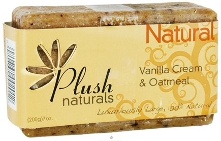 DROPPED: Plush Naturals - Bar Soap Vanilla Cream & Oatmeal - 7 oz. CLEARANCE PRICED