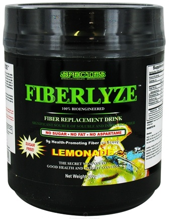 DROPPED: Species Nutrition - Fiberlyze Fiber Replacement Drink Lemonade - 360 Grams CLEARANCE PRICED