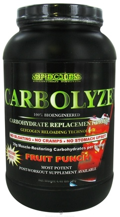 DROPPED: Species Nutrition - Carbolyze Carbohydrate Replacement Drink Fruit Punch - 4.4 lbs. CLEARANCE PRICED