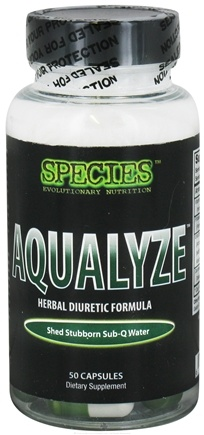 DROPPED: Species Nutrition - Aqualyze Herbal Diuretic Formula - 50 Capsules CLEARANCE PRICED
