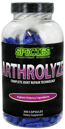DROPPED: Species Nutrition - Arthrolyze Complete Joint Repair Technology - 300 Capsules