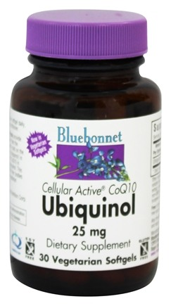 Bluebonnet Nutrition - Cellular Active CoQ10 Ubiquinol From Kaneka QH 25 mg. - 30 Softgels