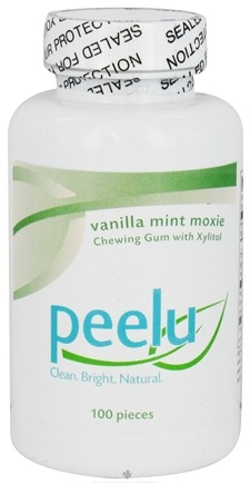 DROPPED: Peelu - Chewing Gum with Xylitol Vanilla Mint Moxie - 100 Piece(s)