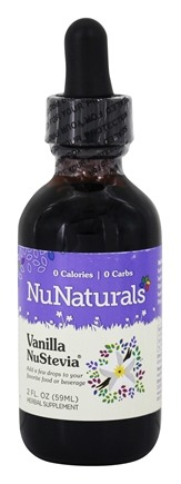 NuNaturals - Vanilla Stevia Pure Liquid - 2 oz.