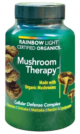 DROPPED: Rainbow Light - Certified Organics Mushroom Therapy - 60 Vegetarian Capsules