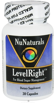 DROPPED: NuNaturals - LevelRight For Blood Sugar Management - 30 Capsules CLEARANCE PRICED