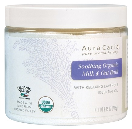 DROPPED: Aura Cacia - Milk & Oat Bath Soothing & Organic With Relaxing Lavender Essential Oil - 9.75 oz. CLEARANCE PRICED