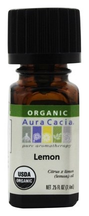 Aura Cacia - Essential Oil Organic Lemon - 0.25 oz.