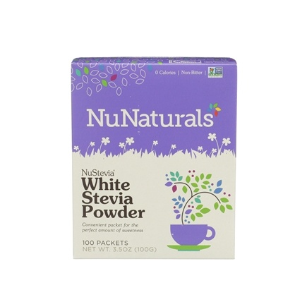 NuNaturals - NuStevia White Stevia Powder - 100 Packet(s)