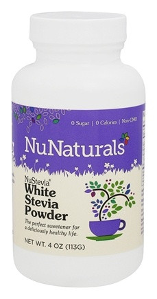 NuNaturals - NuStevia White Stevia Powder - 4 oz.