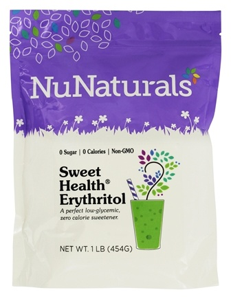 DROPPED: NuNaturals - Sweet Health Erythritol Crystals - 16 oz. CLEARANCE PRICED