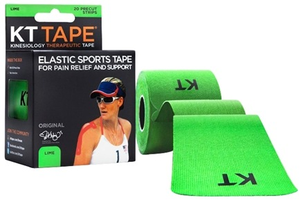 DROPPED: KT Tape - Kinesiology Therapeutic Elastic Athletic Tape Pre-Cut Strips Green - 20 Strip(s)
