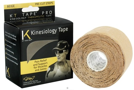 DROPPED: KT Tape - Pro Kinesiology Therapeutic Elastic Athletic Tape Pre-Cut Strips Beige - 20 Strip(s) cLEARANCE PRICED