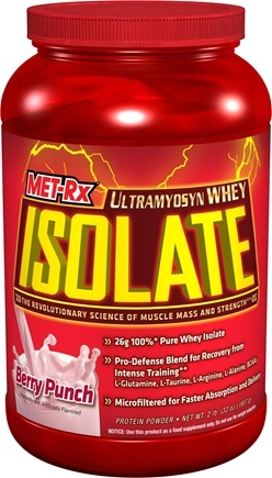 DROPPED: MET-Rx - Ultramyosyn Whey Isolate Berry Punch - 2 lbs. CLEARANCE PRICED