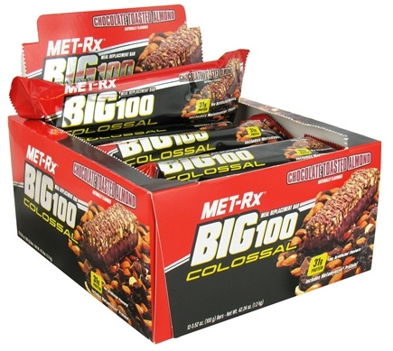 DROPPED: MET-Rx - Big 100 Colossal Meal Replacement Bar Chocolate Toasted Almond - 3.52 oz.