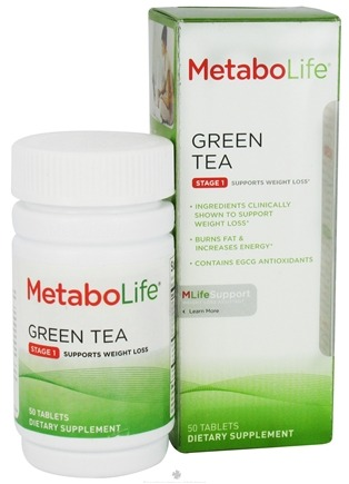 DROPPED: MetaboLife - Green Tea Stage 1 Weight Loss Support - 50 Tablets