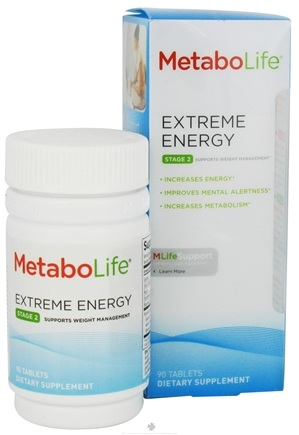 DROPPED: MetaboLife - Extreme Energy Stage 2 Weight Management Support - 90 Tablets CLEARANCE PRICED