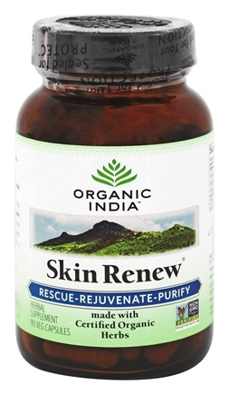 Organic India - Skin Renew Rescue-Rejuvenate-Purify - 90 Vegetarian Capsules