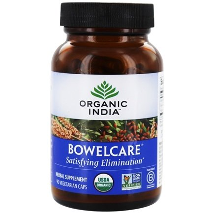 Organic India - Bowelcare Satisfying Elimination - 90 Vegetarian Capsules