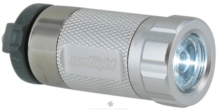 DROPPED: Essential Gear - eGear Spotlight Rechargeable LED Flashlight Silver - CLEARANCE PRICED