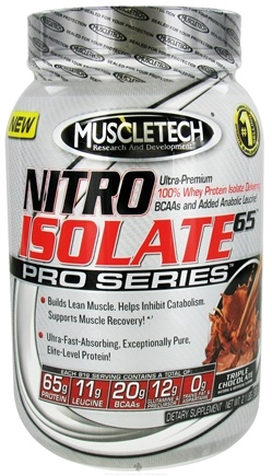 DROPPED: Muscletech Products - Nitro Isolate 65 Pro Series Triple Chocolate - 2.1 lbs. CLEARANCE PRICED