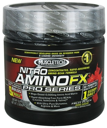 DROPPED: Muscletech Products - Nitro Amino FX Pro Series Fruit Punch - 0.85 lbs. CLEARANCE PRICED