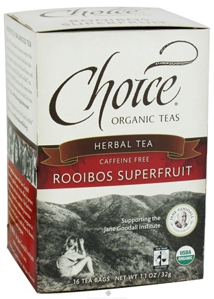 DROPPED: Choice Organic Teas - Herbal Tea Rooibos Superfruit Caffeine-Free - 16 Tea Bags CLEARANCE PRICED