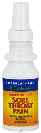 DROPPED: Natural Dentist - Sore Throat Pain Therapy Spray Soothing Mint - 3.75 oz. CLEARANCE PRICED