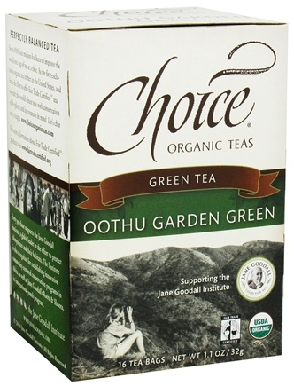 Choice Organic Teas - Green Tea Oothu Garden Green - 16 Tea Bags