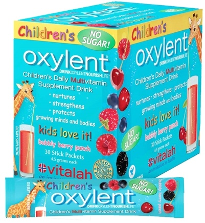 DROPPED: Oxylent - Children's Multivitamin Drink Bubbly Berry Punch - 30 Packet(s) CLEARANCE PRICED