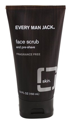 Every Man Jack - Face Scrub and Pre-Shave Fragrance Free - 5 oz.