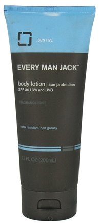 DROPPED: Every Man Jack - Body Lotion Sun Protection 30 SPF - 6.7 oz. CLEARANCE PRICED