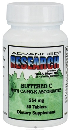 DROPPED: Advanced Research - Buffered C with CA-MG-K Ascorbates 554 mg. - 50 Tablets CLEARANCE PRICED