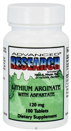 DROPPED: Advanced Research - Lithium Arginate with Aspartate 120 mg. - 100 Tablets CLEARANCE PRICED