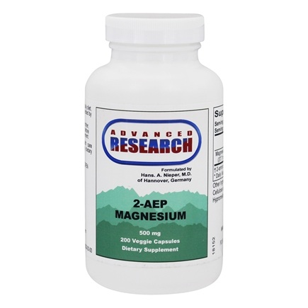 Advanced Research - 2-AEP Magnesium 500 mg. - 200 Vegetarian Capsules