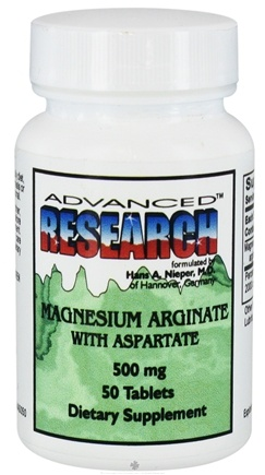 DROPPED: Advanced Research - Magnesium Arginate with Aspartate 500 mg. - 50 Tablets CLEARANCE PRICED