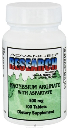 DROPPED: Advanced Research - Magnesium Arginate with Aspartate 500 mg. - 100 Tablets CLEARANCE PRICED