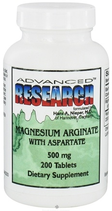 DROPPED: Advanced Research - Magnesium Arginate with Aspartate 500 mg. - 200 Tablets CLEARANCE PRICED