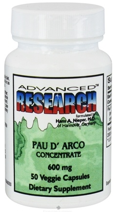 DROPPED: Advanced Research - Pau d'Arco Concentrate 600 mg. - 50 Vegetarian Capsules CLEARANCE PRICED