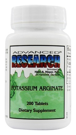 DROPPED: Advanced Research - Potassium Arginate - 200 Tablets