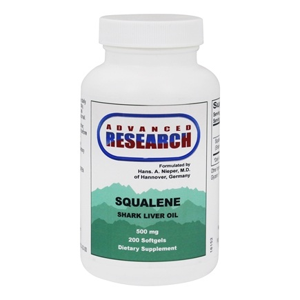 Advanced Research - Squalene Shark Liver Oil 500 mg. - 200 Softgels