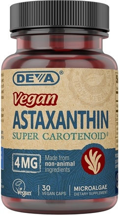 Deva Nutrition - Vegan Astaxanthin Super Anti-Oxidant 4 mg. - 30 Softgels